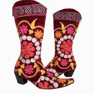 Vintage Tapestry/Embroidered Turkish Boots 37